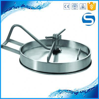Pressure Round Manhole Cover Sanitary Stainless Steel Top Slide