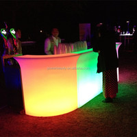 waterproof plastic rechargeable illuminated LED furniture led acrylic bar counter