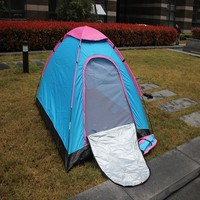 good quality decorative blue camping trailer tent