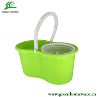 spin mop with stainless steel pole and dehydration basket /mop base LV-22