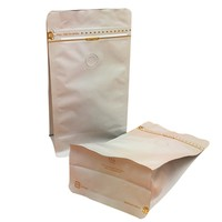 Flat Bottom Foil Coffee Pouch With Valve