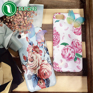 Summer flower butterfly mobile phone cover IMD soft TPU protective cover cell phone case vendor for iphone 7