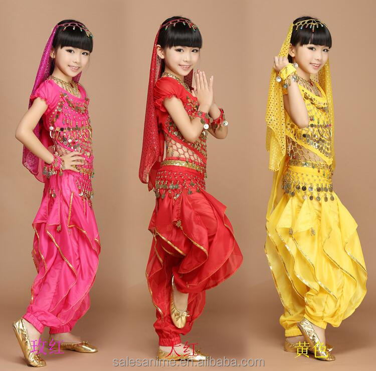 Hot sale Cheap indian children belly dance costume for girl