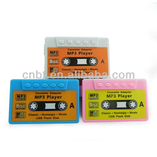 SD/MMC Card USB2.0 Remote Retro Cassette Tape Style Mp3 Player