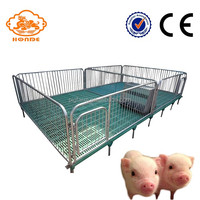 Customized Hot Dip Galvanized Pig Cages Pig Farming Equipment