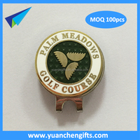 Wholesale engraved golf ball marker hat clips magnetic cap clips ballmarkers in golf