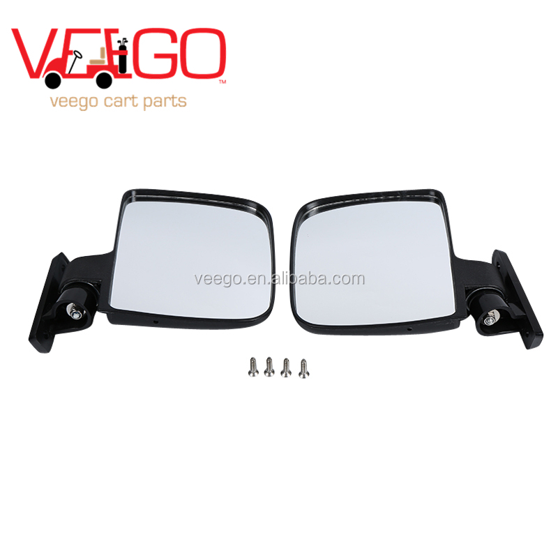 Universal Sporty Golf Cart Side Mount / View Mirror for Club Cal Ezgo Yamaha