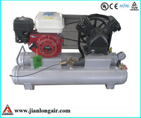 hot sale gas piston air compressor with CE and double containtment storage tank