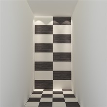 Glazed surface non slip wave pattern lappato bathroom floor tile