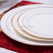ceramic soup plate fake golden decal-058,high quality gold plate for wedding