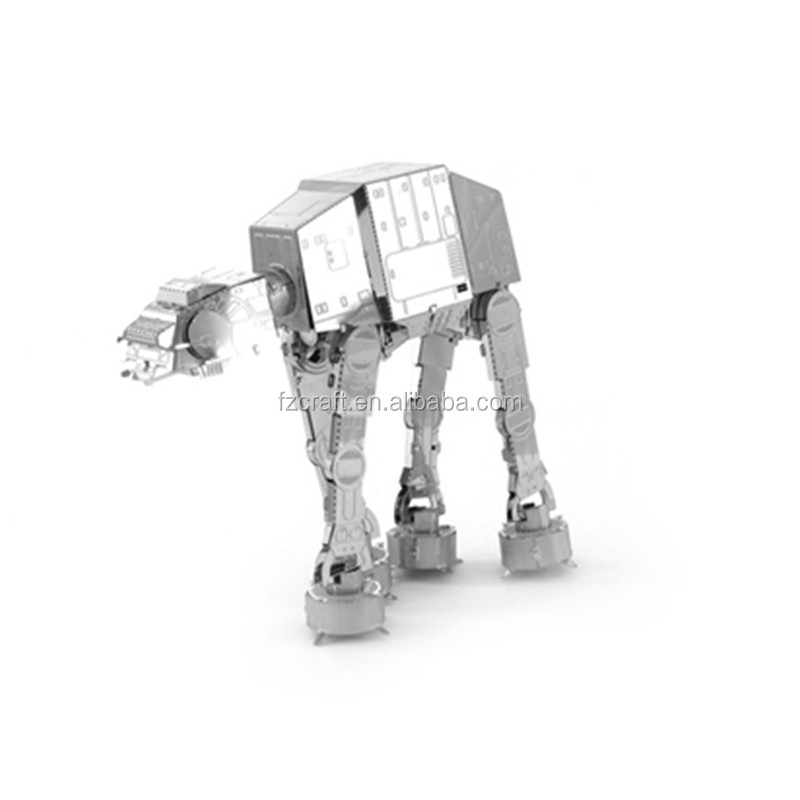 3D Metal AT-AT Walker Star Puzzle War R2D2 TIE Fighter Millennium Falcon 10179 Destroyer X Wing robot toy