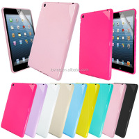 New Stylish Solid Glossy Tpu Silicone Case Cover For iPad Mini+Screen Protector