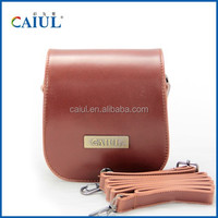 CAIUL Hot instant camera mini25 Light coffce PU Leather bag for instax