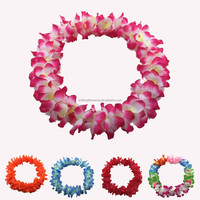 party decoration artificial fabric hawaii flower necklace lei
