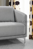 L-shaped Sectional Sofa with Small Arm Italian Style for office furniture