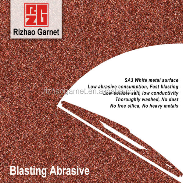 Blasting abrasive garnet for SA3 white metal surface