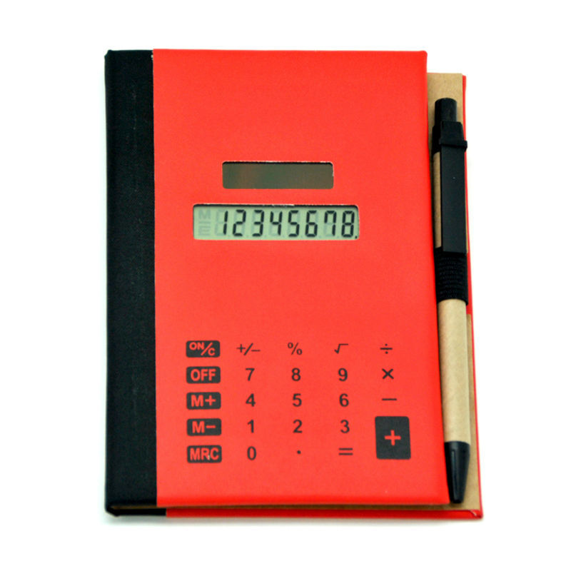 new design pu cover promotional notebook with touch screen calculator and pen