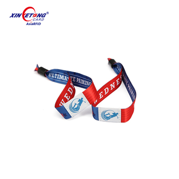 Custom RFID Fabric X-Band Wristband for Festival Events