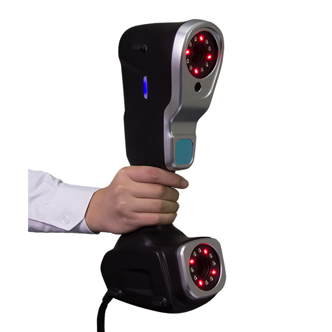High volumetric accuracy portable 3D scanner for large volume 3D measurement