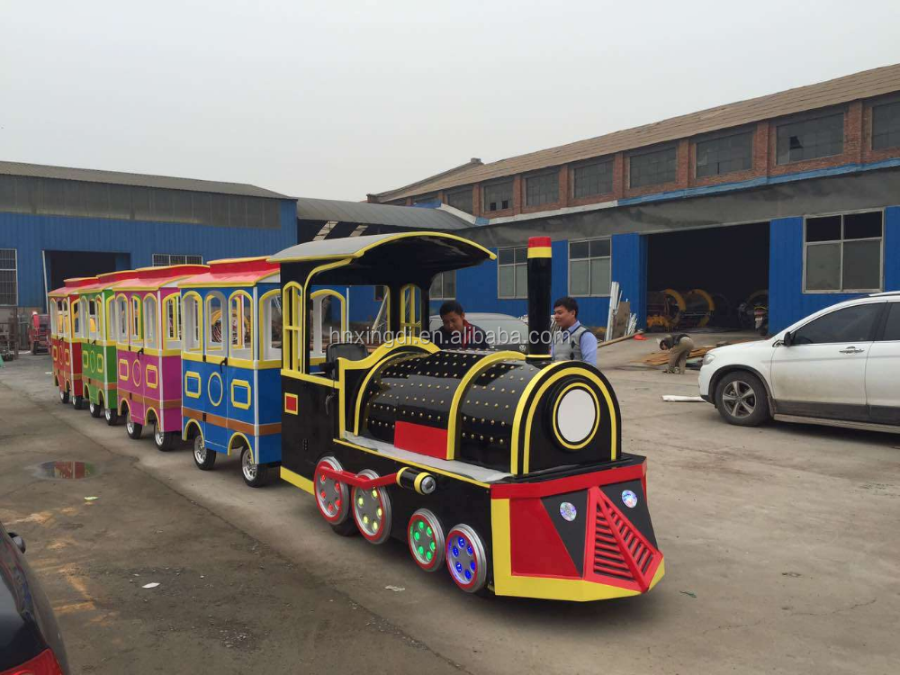 amusement park games electric trackless train for sale