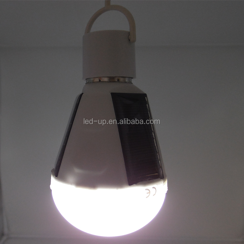 7W Outdoor indoor Led <strong>bulb</strong> with solar panel 110v 220v 230v waterproof camping light