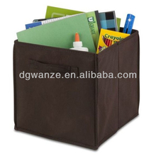 Eco-Friendly fabric lined non woven large cube storage boxes for sutdent
