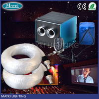 Newest design fiber optic twinkle star ceiling kits with PMMA optic cable and battery operated LED machine