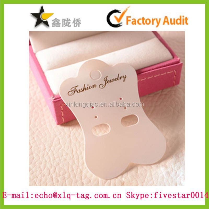 2014 Custom fashion plastic earring hand tag,ear tag with hole