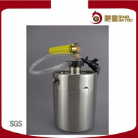 wholesale automatic stainless steel beer drinking dispenser for mini kegs grolwers