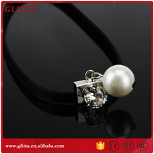 YX034 Black pearl women fashion velvet pearl jewelry design pendant necklace