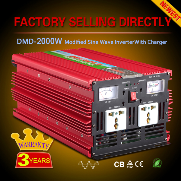 Single output Intelligent dc/ac power 2000W 24vdc to 230vac inverter