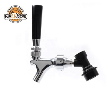 Homebrew Beer Tap Polished Chrome Draft Beer Faucet Keg Tap Keg Spout With Ball Lock Quick Disconnect Kit