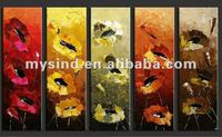 group handmade oil painting picture of flower