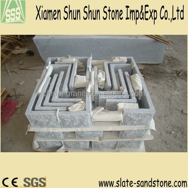 mushroom,bushhammered finishing G623 603 Grey Granite Quoin,corner cladding stone