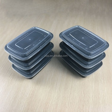 1100ml/38oz large rectangle plastic / pp meal prep food containers supplier