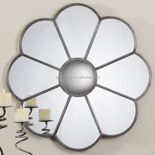 Unique design sun shaped wall mirror with silver framed
