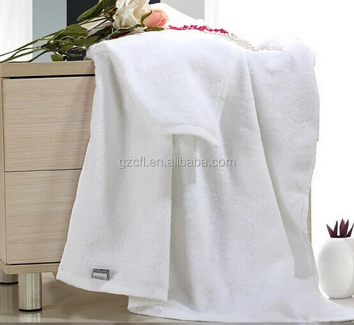 Spa or hotel use white terry 100% cotton bath towel