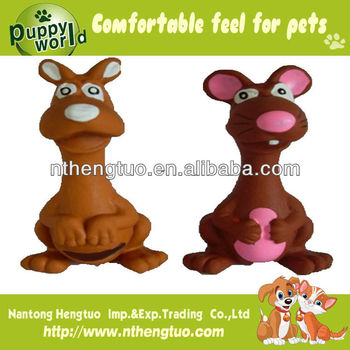 lovely kangaroo latex pet toy,latex squeaky toy