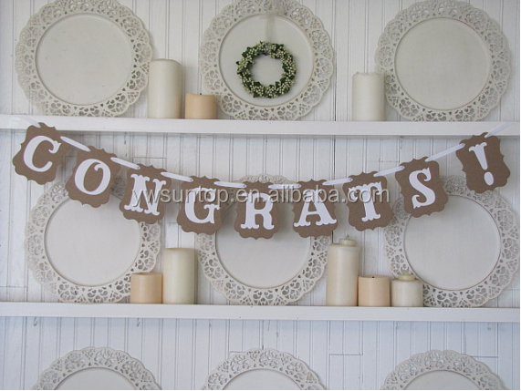 CONGRATS Cheap Banners Photo Cheering Props Wholesale Wedding Party Supplies
