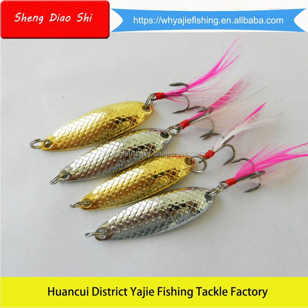 2017 Free Samples !!! Top Fishing Lure Design Fishing Tackle Multi-Color Spoon Lures Fishing Bait