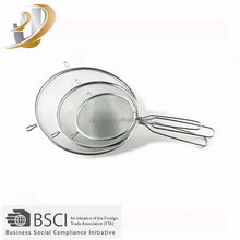 High Quality Round Stainless steel Strainer / Fine Mesh Strainer /Food Strainer With Factory Price
