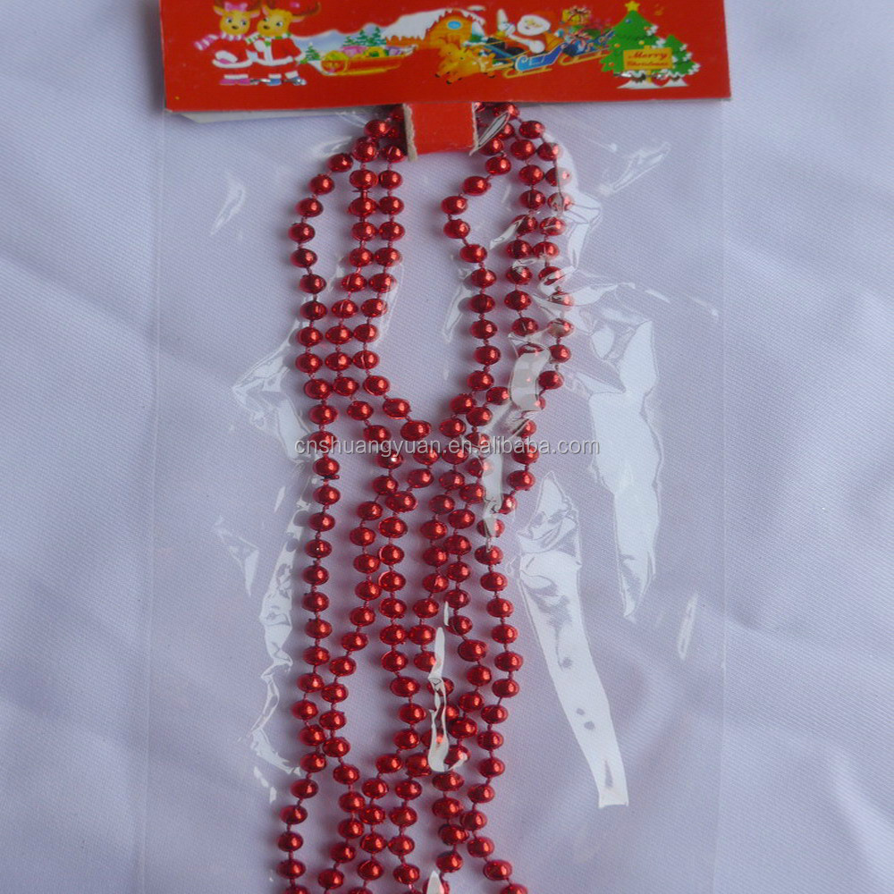 Promotional Xmas Beads/Red Color Christmas Ornaments