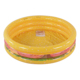 Best selling colorful inflatable 3-ring hamburger plastic swimming pool for kids