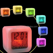 7 Color Changing Table Alarm Clock,Led Table Clock