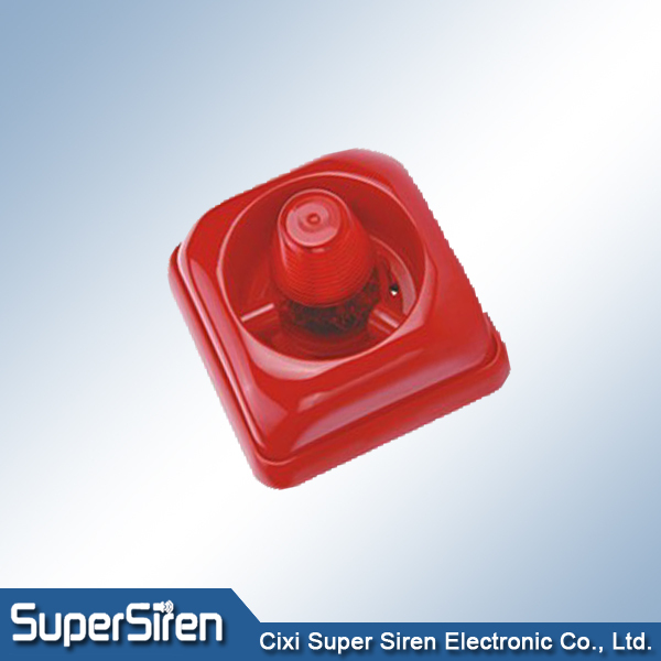 Red light fire alarm siren, Mini strobe siren for fire system