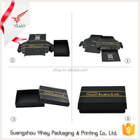 Wholesale Custom Design black rectangle paper folding box, 300 gsm paper box packaging