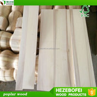 Shandong factory Customrized poplar wood panel for flooring or bed board