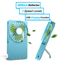 New Mini USB Fan With 3 Protable Rechargeable Fan With 18650 Battery
