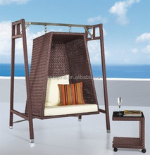 2014 New design rattan outdoor patio swing with canopy