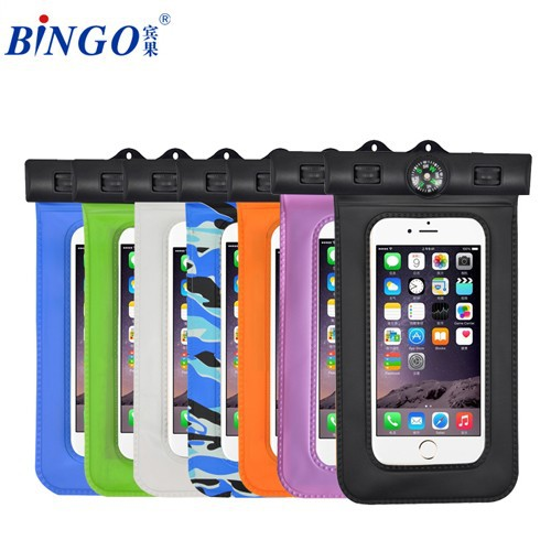waterproof 6.0 inch phone cover pouch for swimming,surfing lovers